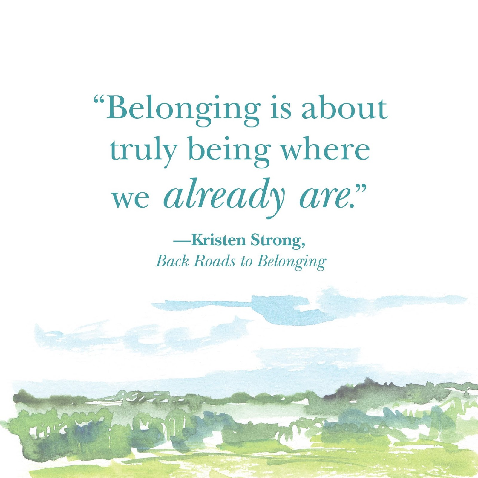 We All Want to Belong